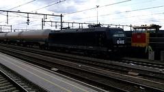 Vandaag een zeldzame lok in Venlo , een 185-er van OHE Ost Hannoverische Eisenbahn (pipoclown269) Tags: eisenbahn venlo ost bombardier lok traxx ohe zeldzaam e185 br185 baureihe185 zeldzame hannoverische treinspot