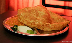 Bhatura with chickpea dhal (luyaozers) Tags: tomato dhal chickpea bhatura uthappam