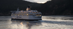 Sunset in Active Pass 2014 (Gord McKenna) Tags: gabriola gordmckenna gord mckenna birthday island gulf vancouver bc british columbia canada pacific ocean ferries ferry fieries bradbury something wicked this way comes active pass boat night bestsincewyoming