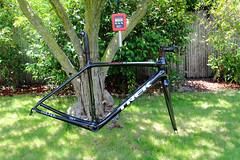 Emonda_2014-07-10_01-frameset (SenebDesign) Tags: road bike bicycle wisconsin trek stem post seat fork sl waterloo frame carbon fiber weight frameset seneb seatmast emonda