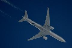 Air France Boeing 777 F-GZNT (Skyteam Colours) (stephenjones6) Tags: outdoors aircraft jet plane boeing b777 777 fgznt air france skyteam blue sky vapour contrail ott highaltitude nikon d3200 skywatcher civil