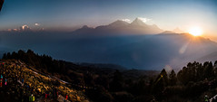 Poon Hill panorama (aaron.beitzel) Tags: poonhill nepal annapurna machhapuchhre himalayas fishtail mountains panorama asia sunrise canon trekking travel hinduism buddhist