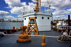 Lightship Bow, Boston MA (Boston Runner) Tags: lightship nantucket boston harbor museum preserved lv112 massachusetts 1936 shipyard marina eastboston bow bell