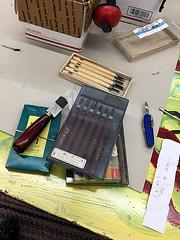 IMG_0432-20 (jjldickinson) Tags: nikon1855mmf3556gvriiafsdxnikkor sacramento studio tool gouge knife carvingtool printmaking mokuhanga carving japanese michihamono box packaging appleiphone6plus victorinox swissarmyknife spartan sapphire pocketknife