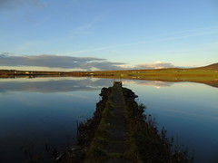 The pier (stuartcroy) Tags: orkney island reflection scotland scenery sky sea sony still beautiful blue bay beach
