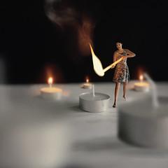 95/365 (itskatrinayu) Tags: kingbhumibol candles candle light self portrait 365 project woman fire dark miniature surreal borrowers