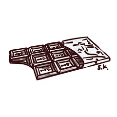 October 9, 2016 - THE AEDI TIMES (AEDI Inc.) Tags: chocolate chocoholic illustration drawing choco
