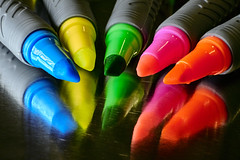 A play of color (highlighters). (bkkay1) Tags: