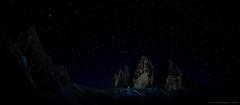 A Sky Full of Stars (Gio_says_goodbye) Tags: sky stars lookingatthestars mountainscape dolomiti dolomiten dolomites nightscape soul sofia solitude atmosphere threepeaks trecime italy artwork coolnight landscape