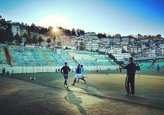 Paljor stadium located in the heart of Gangtok is a favourite spot for sports lovers. And the love for football here is quite evident with the place choc-a-bloc with people, young and old practicing even before the sunrise. . . #gangtok #sikkimdiaries #si (pranaypariyar) Tags: gangtok sikkim sports football soccer northeastindia incredibleindia sunrise