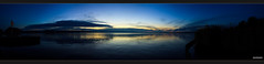 Mggelsee Panorama (MLursus) Tags: mlursus 2016 canon eos 50d berlin mggelsee germany cloudy cloud wolkig wolken wasser sonnuntergang dusk mggelturm blau blue yellow gelb panorama