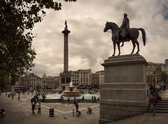 London Trafalgar Square (chabsh123) Tags: london trafalgar square fountain statue lightroom colorefexpro fuji xpro2