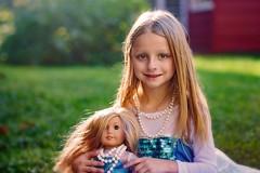 Me and my gal (Teresa Ramella) Tags: child girl babydoll americangirldoll outside kid littlegirl
