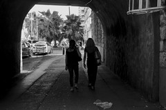 (Chlo Pichouron) Tags: nice france young women femmes femme silhouette silhouettes bw tunnel ombre