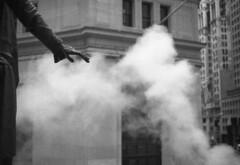 Feel (Jack Denny) Tags: nyc new york nikon fm2 film analog 50mm f14 wall street smoke kodak trix 400