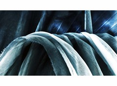 fabric wave (losy) Tags: fabric blue wave abstract losyphotography stoff blau welle
