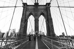 Brooklyn Bridge Black and White, Manhattan, New York City, USA (Domi Art Photography) Tags: ny nyc newyork newyorkcity manhattan statueofliberty bynight landscape cityscape dreamscape nightscape street people skyline brooklyn bridge brooklynbridge queens downtown uptown midtown fifthavenue libertyisland ellisisland lights