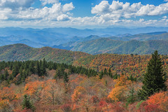 Cowee Mountain Overlook (Blue Ridge Parkway) (*Ken Lane*) Tags: burnettsiding cullowhee geo:lat=3535557869 geo:lon=8298791975 geotagged unitedstates usa america asheville ashevillenc ashevillenorthcarolina avl blueridge blueridgelandscape blueridgemountains blueridgeparkway brp clouds fallcolors fallfoilage foilage forest httpswwwflickrcomphotoskenlane landscape mountain mountainranges nature nc nikkor nikond800 northcarolina outdoor parkway sky tree trees westernnorthcarolina wnc coweemountainoverlook