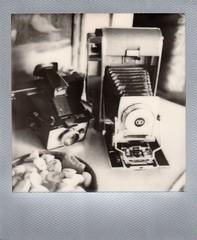 happy polaroid week! (EllenJo) Tags: polaroidweek october2016 polaroid impossibleproject theimpossibleproject bw blackandwhite sx70 instantfilm ellenjoroberts october18 2016 instant silverframe ellenjo cameraporn polaroidpathfinder polaroidcolorpack cameras instantcameras savepackfilm