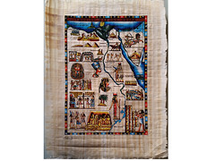 The Map of Egypt Papyrus (EgyptArtShop) Tags: egyptian papyrus map egypt