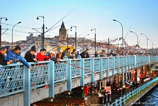 Historic Galata Bridge Istanbul
