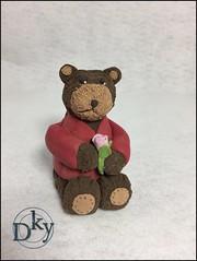 OSITO (Dinkyta (Miryam)) Tags: deco clay polymerclay arcilla de secado al aire modelado oso osito angel papa noel