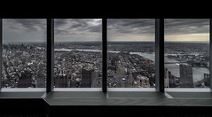 Batman's office view (@ntomarto) Tags: antomarto ntomarto usa us unitedstates statiuniti newyork ny nyc manhattan oneworld finestre windows window vista view citt city panorama landscape nuvole clouds