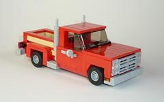 Li'l Red Express Truck (MOCs & Stuff) Tags: lego city town 7 wide dodge express truck d series pick up