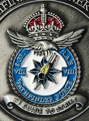 Alternative Macro Monday - Arrow Images (STOLPILOT) Tags: arrow macro mondays macromondays small up close tiny bomber command wyton medal badge crest king crown 8 group pathfinder