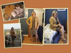 Boucle Sheath Dress and Blazer (krislagreen) Tags: turbocollage tg tgirl transgender transvestite cd crossdress dress blazer suede tan brown hazelnut patent pumps stilettos femme feminized feminization