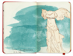 The Winged Victory of Samothrace // Nike of Samothrace (tata_biserova) Tags: art sketch sketchbook moleskine artbook artjournal sketching sketches arte draw paint painting watercolor nike paris fineart visualart