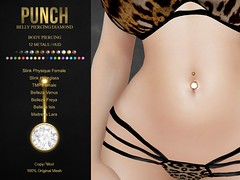 PUNCH / Diamond Belly Piercing [Slink,TMP,Belleza,Maitreya] (May Tremont) Tags: sl secondlife punch piercing store original mesh piercings belly navel rigged slink physique hourglass tmp themeshproject belleza freya venus isis maitreya