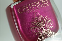 Catrice - Berry British & Poetic Pink + stamping (www.lacqueredobsession.com) Tags: nail art design polish catrice matte pink red wine stamp stamping sallyhansen rosegold moyou