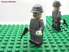 LEGO German WWII Officer (dmikeyb) Tags: lego german wwii war minifig minifigure custom soldier weapon uniform luftwaffe recon sniper panzer panzerfaust general officer