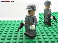 LEGO German WWII Officer (dmikeyb) Tags: lego german wwii war minifig minifigure custom soldier weapon uniform luftwaffe recon sniper panzer panzerfaust general officer