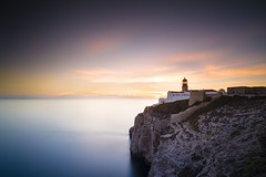 At the end of the world... (ollieotter81) Tags: saovicente sagres portugal algarve lighthouse sunset holiday atlanticocean canon zeiss leefilters bigstopper longexposure