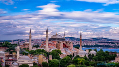 turki (sandilesmana28) Tags: turki mosque landscape blue cloud tree sultan ahmed hagia sophia aya sofya wisdom holy architecture heritage