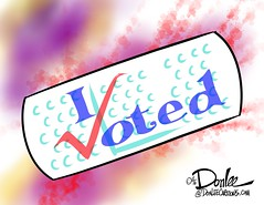 1116 vote bandaid cartoon (DSL art and photos) Tags: editorialcartoon donlee election hate injury bandaid division vote sticker