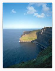 Cliffs of Moher, Ireland (Pali K) Tags: filmisawesome analog filmphotography filmisnotdead fujifilm ga645w kodak portra 160 cliffs ireland moher color film scanmate drumscan pmt 11000 tetenal c41 jobo cpp2
