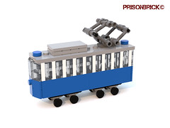 Tram Deformed 03 (PrisonBrick) Tags: lego tram opicina trieste train mini moc scale deformed opcina