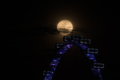 Moonrise Over SIngapore Flyer (chengkiang) Tags: singaporeflyer singapore supermoon moon