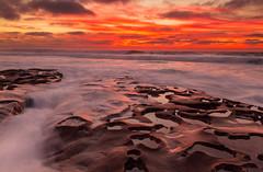Tide Pool - Wave (PhotoJacko - Jackie Novak) Tags: lajolla potholes sandiego tidepools wave sunset motion water longexposure seascape landscape tidalflat evening dusk twilight california jackienovakphotography cuvierpark gndfilter
