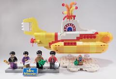 19-LEGO Ideas 21306 - Yellow Submarine (Sweeney Todd, the Lego) Tags: lego ringo john paul george beatles the submarine yellow minifigure minifigures accessories box review photography