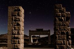 Rhyolite-54.jpg (Travis Fike) Tags: lightpainting night landscape outdoors starpoints deathvalley architecture environment wideangle stars longexposure rhyolite