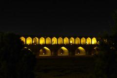 iran_001 (muddycyclist) Tags: panasonic lumix lx7 iran isfahan esfahan bridge night