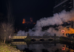 Cloud of Steam (4486Merlin) Tags: duchessofsutherland semi 46233 buildings england europe exlms lms8pduchess landscape places railways riversandcanals steam transport unitedkingdom lincoln lincolnshire gbr cathedralsexpress minster eastmidlands nightshot