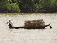 IMG_3339 (program monkey) Tags: vietnam mekong river delta cargo boat ben tre tra vinh palm tree fish trap paddle row oar