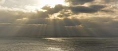 Shine a light on Me.. (Harleynik Rides Again.) Tags: sea sky cloudporn sunrays flare ocean channel southcoast dorset harleynikridesagain shinealightonme