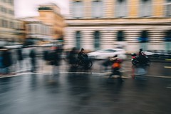Man on bicycle (mougrapher) Tags: ifttt 500px street bicycle photography bike city urban architecture cityscape building italy light europe old travel rome rm lazio roma car cars italia people rain movement