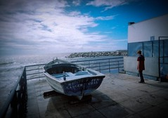Madeira - boy and boat (on2alan) Tags: 35mm uws film kodakportra madeira